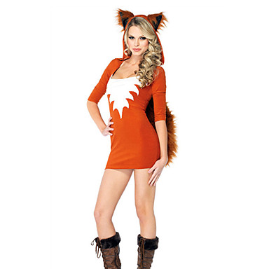Žene vukova Catwoman Kostim Odrasli Žene Halloween Božić Božić Halloween Karneval Festival / Praznik Terilen Polyster žuta Žene Ženska Karneval kostime Jednobojni / Hoodie / Hoodie