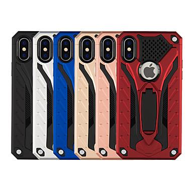 Недорогие Кейсы для iPhone X-Кейс для Назначение Apple iPhone XS / iPhone XR / iPhone XS Max Защита от удара / со стендом Кейс на заднюю панель Однотонный / броня Твердый ПК