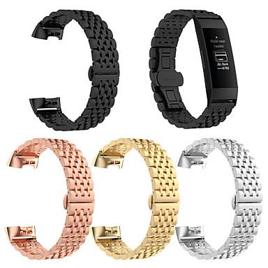 voordelige Smartwatch-accessoires-Horlogeband voor Fitbit Charge 3 Fitbit Sportband Roestvrij staal Polsband