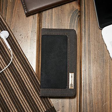Θήκη Za Apple iPhone SE / 5s / iPhone 5 Novčanik / Utor za kartice / sa stalkom Korice Jednobojni Tvrdo Tekstil