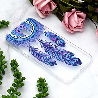 voordelige Galaxy J-serie hoesjes / covers-hoesje Voor Samsung Galaxy J6 / J6 Plus / J4 Transparant / Patroon Achterkant Dromenvanger Zacht TPU