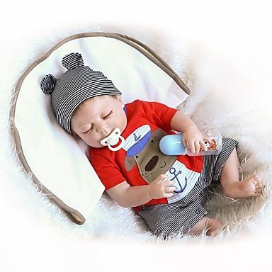 olcso babák-NPKCOLLECTION NPK DOLL Reborn Dolls Fiú babák 18 hüvelyk Teljes test szilikon Vinil - Újszülött Ajándék Bájos Gyerek Fiú Játékok Ajándék