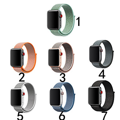 رخيصةأون أساور ساعات هواتف أبل-حزام إلى أبل ووتش سلسلة 5/4/3/2/1 Apple بكلة كلاسيكية نايلون شريط المعصم