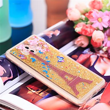 voordelige Huawei Mate hoesjes / covers-hoesje Voor Huawei Mate 10 Schokbestendig / Glitterglans Achterkant Eiffeltoren / Glitterglans Zacht TPU