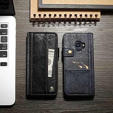 Θήκη Za Samsung Galaxy S9 Plus Novčanik / Utor za kartice / sa stalkom Korice Jednobojni Tvrdo PU koža