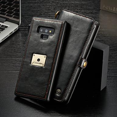 Недорогие Чехлы и кейсы для Galaxy Note-Caseme чехол для samsung galaxy note 9 кошелек / визитница / флип чехлы для тела сплошная твердая твердая кожа