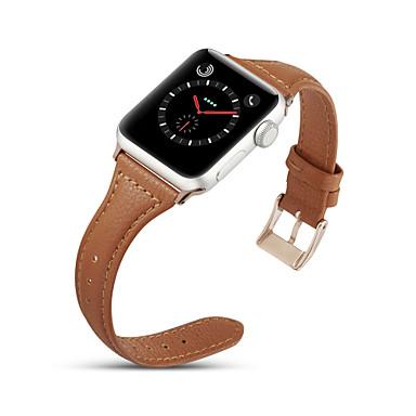 Недорогие Аксессуары для смарт-часов-Ремешок для часов для Apple Watch Series 4/3/2/1 Apple Классическая застежка Натуральная кожа Повязка на запястье