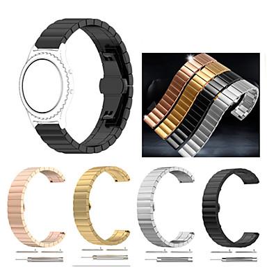 voordelige Horlogebandjes voor Samsung-Horlogeband voor Gear Sport / Gear S2 Classic Samsung Galaxy Sportband / Butterfly Buckle Roestvrij staal Polsband