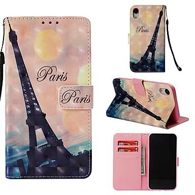 Θήκη Za Apple iPhone XR Novčanik / Utor za kartice / Zaokret Korice Eiffelov toranj Tvrdo PU koža