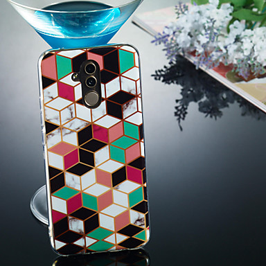 voordelige Huawei Mate hoesjes / covers-hoesje Voor Huawei Huawei Honor 10 / Huawei Honor 9 Lite / Huawei Honor 8X IMD / Patroon Achterkant Marmer Zacht TPU