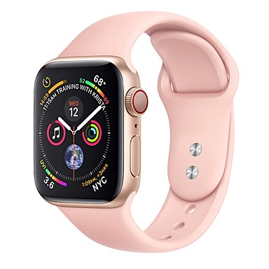 abordables Correas para Apple Watch-Ver Banda para Apple Watch Series 4/3/2/1 Apple Correa Deportiva / Hebilla Clásica Silicona Correa de Muñeca