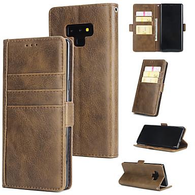 Θήκη Za Samsung Galaxy Note 9 Novčanik / Utor za kartice / Zaokret Stražnja maska Jednobojni Tvrdo PU koža