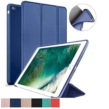 رخيصةأون أغطية أيباد-غطاء من أجل Apple iPad Air / iPad 4/3/2 / iPad Mini 3/2/1 ضد الصدمات / مع حامل / قلب غطاء كامل للجسم لون سادة TPU / جل السيليكا