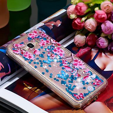 Θήκη Za Samsung Galaxy J7 (2016) Otporno na trešnju / Šljokice Stražnja maska Šljokice / Cvijet Mekano TPU