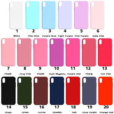 cheap iPhone Cases-Case For Apple iPhone XS / iPhone XR / iPhone XS Max Frosted Back Cover Solid Colored Soft TPU