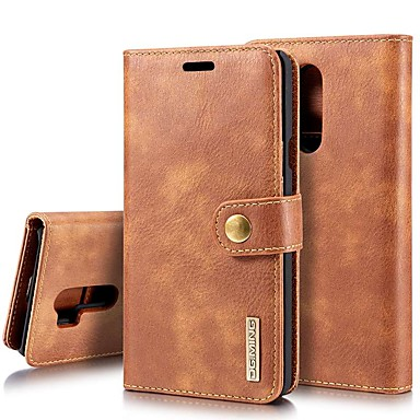 preiswerte Hüllen / Cover für LG-Hülle Für LG LG V30 / LG V20 / LG G7 Kreditkartenfächer / Stoßresistent / mit Halterung Ganzkörper-Gehäuse Solide Hart Echtleder / LG G6
