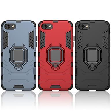 Недорогие Кейсы для iPhone-Кейс для Назначение Apple iPhone 7 Защита от удара / Кольца-держатели Кейс на заднюю панель Однотонный / броня Твердый ПК