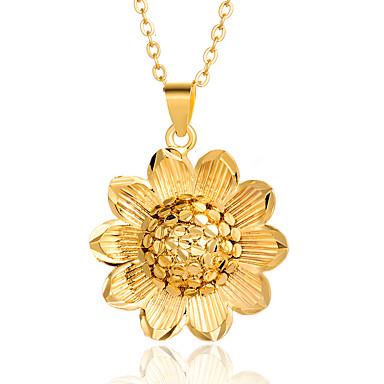 Žene Ogrlice s privjeskom Klasičan Cvijet dame Stilski Luksuz 18K pozlaćeni Zlato 45 cm Ogrlice Jewelry 1pc Za Party Dar