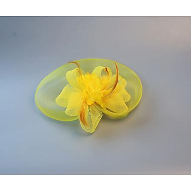 ieftine Bijuterii de Păr-Cristal / Material Textil / organza Diademe / Palarioare / Flori cu 1 Nuntă / Party / Seara / Petrecere ceai Diadema