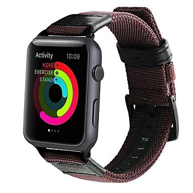Недорогие Аксессуары для смарт-часов-Ремешок для часов для Серия Apple Watch 5/4/3/2/1 Apple Классическая застежка Нейлон / Холст Повязка на запястье