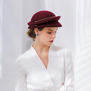 877ce4b7 Elizabeth The Marvelous Mrs. Maisel Women's Adults' Ladies Retro / Vintage Cloche  Hat Hat Brown Pink Red Solid Colored Vintage Wool Headwear Lolita ...