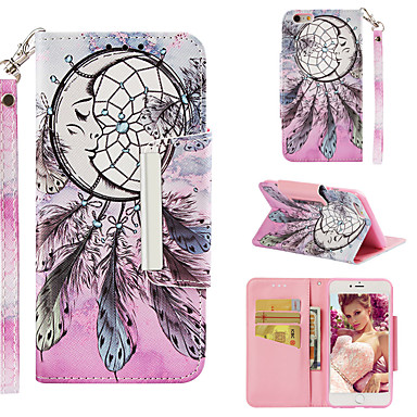 Θήκη Za Apple iPhone 6s Plus Novčanik / Utor za kartice / Zaokret Stražnja maska Hvatač snova / Cvijet Tvrdo PU koža