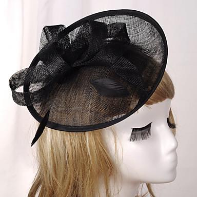 Elizabeta Čudesna gđa. Maisel Žene Odrasli dame Retro / vintage Feather Net Hat Fascinator Hat Trake za kosu Hair Clip Sive boje Pink Kava Mašna Šeširi Lolita Pribor