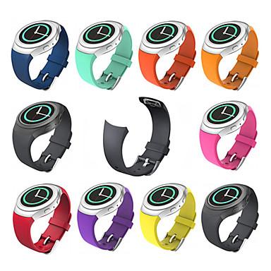Недорогие Часы для Samsung-Ремешок для часов для Gear S2 Samsung Galaxy Спортивный ремешок силиконовый Повязка на запястье