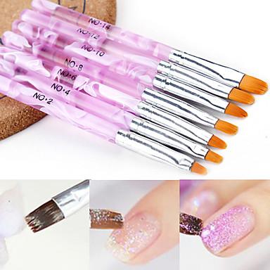 7pcs Eko-friendly materijal Nail art alat Alati za njegu noktiju Za Multi Function / Najbolja kvaliteta Romantična serija nail art Manikura Pedikura Moda Dnevno