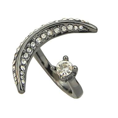 Žene Otvori Prsten Kubični Zirconia 1pc Crn Legura dame Neobično Mértani Dnevno Spoj Jewelry MOON Slatko