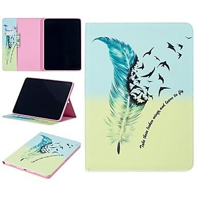 رخيصةأون أغطية أيباد-غطاء من أجل Apple iPad Air / iPad 4/3/2 / iPad Mini 3/2/1 محفظة / ضد الصدمات / مع حامل غطاء كامل للجسم الريش قاسي جلد PU