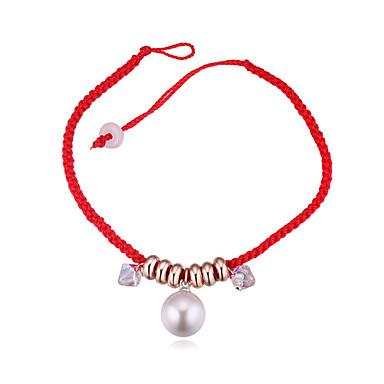 Bijela Uže Narukvica prijateljstva - Biseri, Kristal Lopta Simple Style, pomodan, Moda Red Za Zabave Dnevno Žene