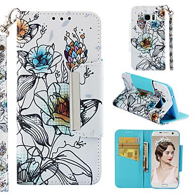 Θήκη Za Samsung Galaxy S7 edge Novčanik / Utor za kartice / Zaokret Korice Cvijet Tvrdo PU koža