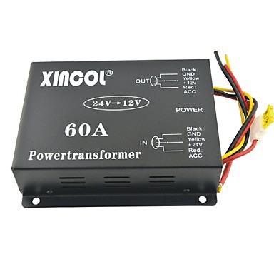 xincol vehicle car dc 24v to 12v 60a power supply transformer