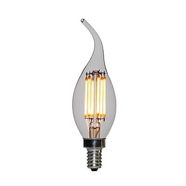 10pcs 2 W LED svjećice 120 lm E12 / E14 C35L 2 LED zrnca Visokonaponski LED Toplo bijelo 110-130 V 200-240 V / RoHs / FCC / VDE
