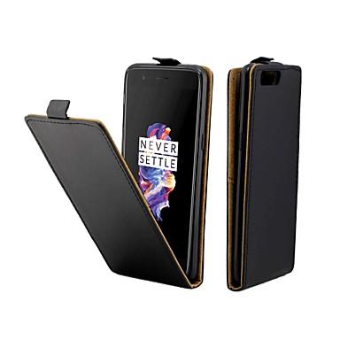 Θήκη Za OnePlus One Plus 5 Utor za kartice / Zaokret Korice Jednobojni Tvrdo PU koža
