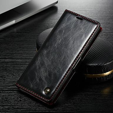 voordelige Galaxy Note-serie hoesjes / covers-hoesje Voor Apple Note 9 Portemonnee / Kaarthouder / met standaard Volledig hoesje Effen Hard PU-nahka