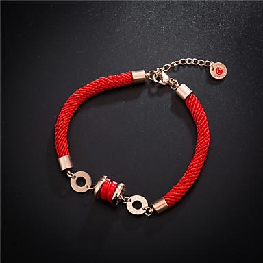 Uže Narukvica - Titanium Steel Sretan dame, Europska, Simple Style, Moda Red Za Party Dnevno Žene