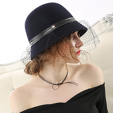 Čudesna gđa. Maisel Žene Odrasli dame Retro / vintage Veil Cloche Hat šešir Crn Šeširi Lolita Pribor