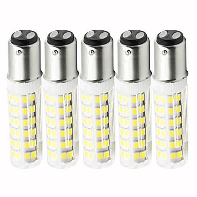 5pcs 4.5 W LED klipaste žarulje 450 lm BA15D T 76 LED zrnca SMD 2835 Zatamnjen Toplo bijelo Hladno bijelo 110 V
