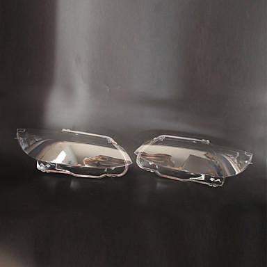 2pcs سيارة اغطية السيارات الخفيفة شفاف تصميم جديد إلى كشافات من أجل BMW 2006 / 2007 / 2008