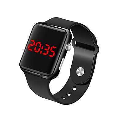 رخيصةأون ساعات الرجال-رجالي ساعة المعصم ساعة رقمية رقمي سيليكون أسود 30 m مقاوم للماء LCD رقمي موضة الحد الأدنى - فوشيا أزرق ذهبي روزي