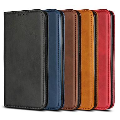 Недорогие Чехлы и чехлы-Кейс для Назначение SSamsung Galaxy S9 / S9 Plus / S8 Plus Кошелек / Бумажник для карт / со стендом Чехол Однотонный Твердый Кожа PU