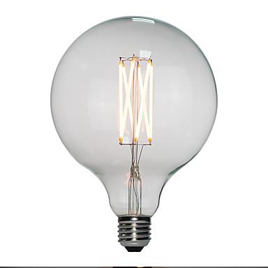 6kom 6 W LED filament žarulje 120 lm E26 / E27 G125 6 LED zrnca Visokonaponski LED Toplo bijelo 110-130 V 200-240 V / RoHs / FCC / VDE