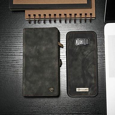 povoljno Maske/futrole za Galaxy S seriju-Θήκη Za Samsung Galaxy S8 Novčanik / Utor za kartice / sa stalkom Korice Jednobojni Tvrdo PU koža