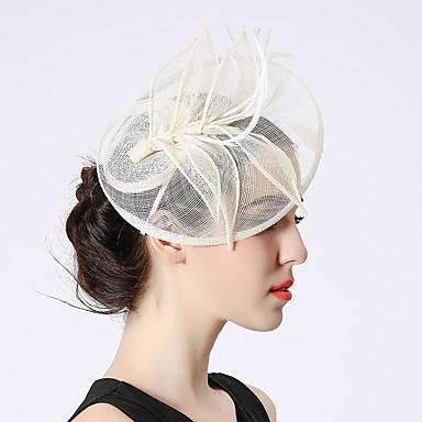 Elizabeta Čudesna gđa. Maisel Žene Odrasli dame Retro / vintage Feather Net Hat Fascinator Hat Trake za kosu Hair Clip Obala Crn Cvijet Šeširi Lolita Pribor