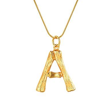 Žene Ogrlice s privjeskom Ime Alphabet Shape dame Moda Legura Zlato Pink 55 cm Ogrlice Jewelry 1pc Za Dar Dnevno