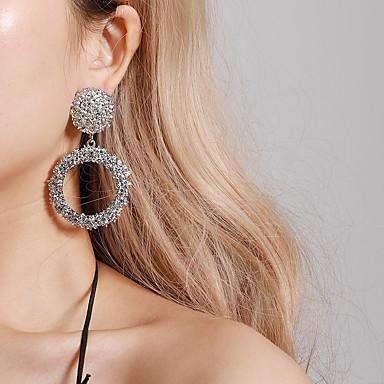 Žene Viseće naušnice dame Vintage pomodan Ogroman Druzy Naušnice Jewelry Zlato / Pink / Rose Gold Za Party Svečanost 1 par