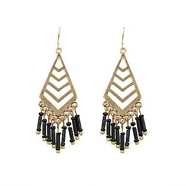 Žene Viseće naušnice Retro Long Naušnice Jewelry Crn / Fuksija / Plava Za Zabava / večer Dnevno 1 par