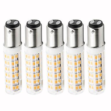5pcs 4.5 W LED klipaste žarulje 450 lm BA15D T 76 LED zrnca SMD 2835 Zatamnjen Toplo bijelo Hladno bijelo 220 V